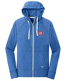 New Era Chicago Cubs Triblend Fleece Full-Zip Sweatshirt