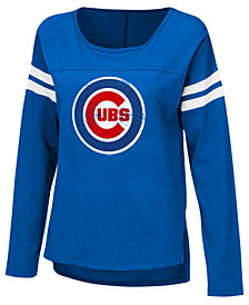 Touch by Alyssa Milano Women's Chicago Cubs Free Agent Long Sleeve T-Shirt
