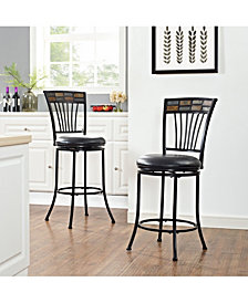 Templeton Swivel Counter Stool With Cushion