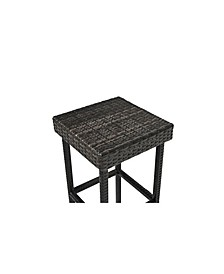 Palm Harbor Outdoor Wicker Counter Height Stool (Set Of 2)