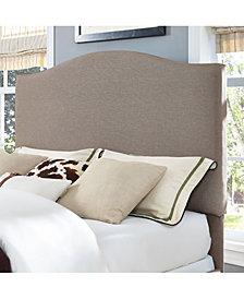 Bellingham Camelback Upholstered Full And Queen Headboard In Linen