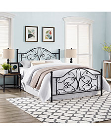 Evelyn King Metal Headboard And Footboard