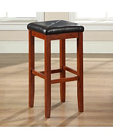 "Upholstered Square Seat Bar Stool With 29"" Seat Height (Set Of 2)"