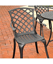 Sedona Cast Aluminum High Back Arm Chair (Set Of 2)