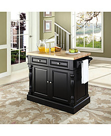 Oxford Butcher Block Top Kitchen Island