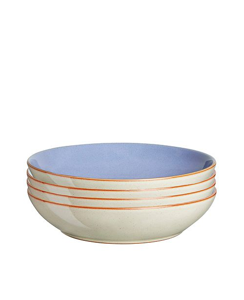 Denby Heritage Fountain Set of 4 Pasta Bowls