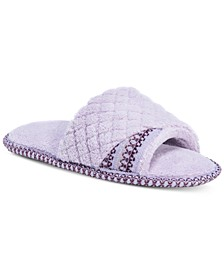 Women's Sally Micro-Chenille Open-Toe Slippers