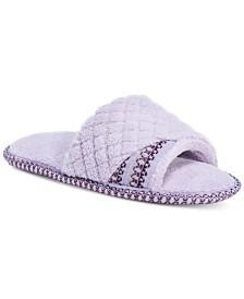 MUK LUKS® Women's Sally Micro-Chenille Open-Toe Slippers