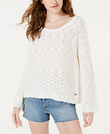 Roxy Juniors' Cotton Open-Back Sweater