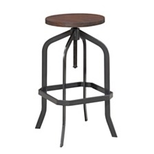 Court Adjustable Backless Bar Stool