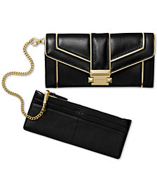 MICHAEL Michael Kors Chain Polished Leather Carryall Wallet