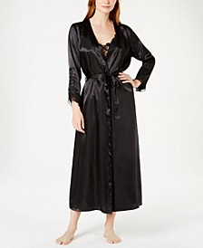 Stella Satin Venise Trim Gown and Robe Separates
