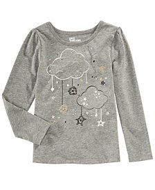 Epic Threads Toddler Girls Long-Sleeve Clouds T-Shirt, Created for Macy's