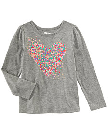 Epic Threads Little Girls Dot-Print Heart T-Shirt, Created for Macy's