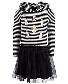 Epic Threads Little Girls Layered-Look Hooded Penguin Dress, Created for Macy's