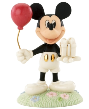 Closeout! Lenox Collectible Disney Figurine, Mickey Mouse and Friends Mickey's Birthday Gift