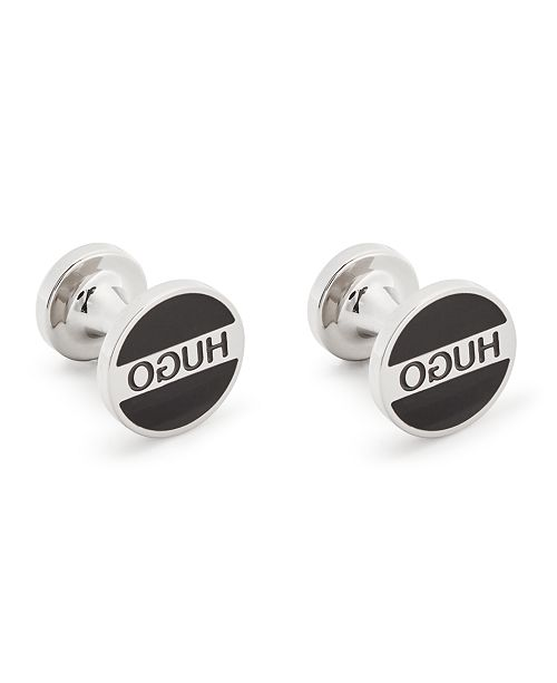 HUGO Boss Men's Round Logo Cuff Links