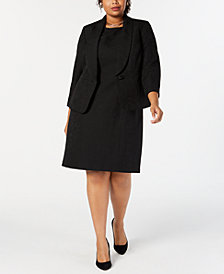 Le Suit Plus Size Jacquard Dress Suit