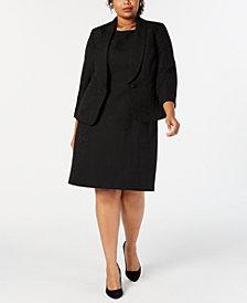 Le Suit Plus Size Jacquard Dress Suit