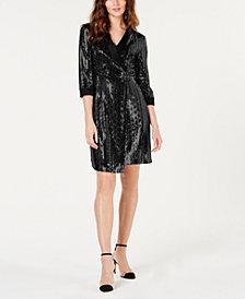 I.N.C. Petite Mirror-Ball Mini-Blazer Dress, Created for Macy's