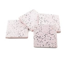 CLOSEOUT! Thirstystone Set of 4 Pink Terrazzo Marble Coasters