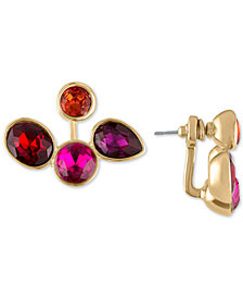 RACHEL Rachel Roy Gold-Tone Crystal Front-and-Back Earrings