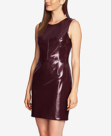 1.STATE Sleeveless Patent-Leather Dress