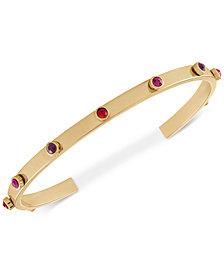 RACHEL Rachel Roy Gold-Tone Crystal Cuff Bracelet