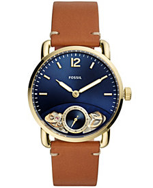 Fossil Men's Commuter Twist Luggage Leather Strap Watch 42mm