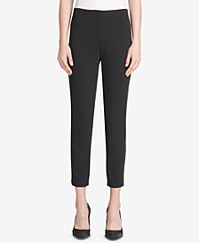 DKNY Pull-On Skinny Pants With Faux-Leather Trim, Created for Macy's