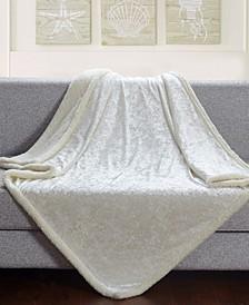 Velvet Crush Sherpa Throw Blanket for Couch - 50 x 60