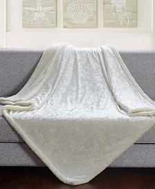 Velvet Crush Sherpa Throw Blanket for Couch