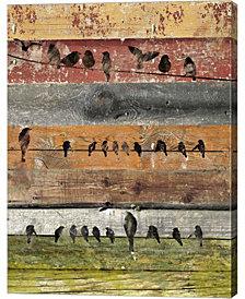 Birds On Wood I By Irena Orlov Canvas Art