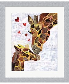 Sweet Giraffes By Artpoptart Framed Art