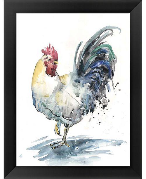 Metaverse Rooster Splash I By Melissa Wang Framed Art