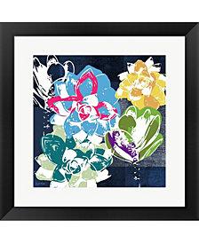 Colorful Succulent2 by Linda Woods Framed Art