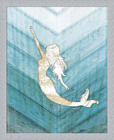 Coastal Mermaid I by Jennifer Pugh Framed Art