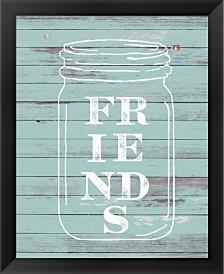 Friends Mason Jar By Ramona Murdock Framed Art