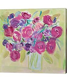 Pink Roses Flower By Farida Zaman Canvas Art