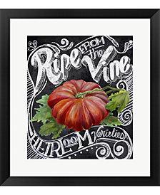Chalkboard Tomato By Art Licensing Studio Framed Art
