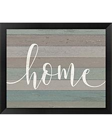Rustic Home Script By Jo Moulton Framed Art