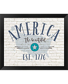 America Brick By Jo Moulton Framed Art
