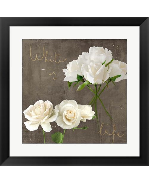 Metaverse White Roses By Teo Rizzardi Framed Art
