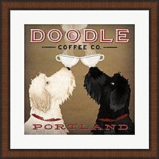 Doodle Coffee Double IV Portland by Ryan Fowler Framed Art