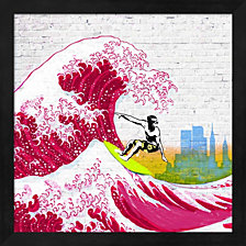 Surfin' Nyc By Masterfunk Collective Framed Art