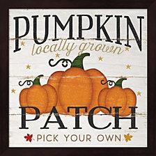 Pumpkin Patch By Jennifer Pugh Framed Art