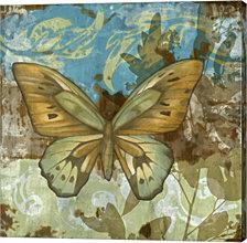 Rustic Butterfly I by Jennifer Goldberger Canvas Art
