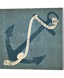 Nautical Anchor Blue By Ryan Fowler Canvas Art