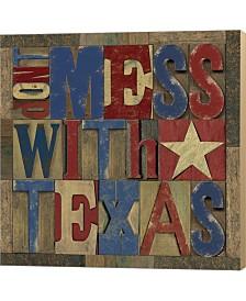 Texas Printer Bloc1 By Tara Reed Canvas Art