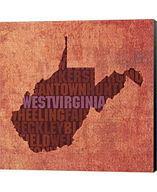 West Virginia State By David Bowman Canvas Art